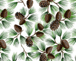 Classic Christmas Pine Cone and Needles from David Textiles Fabrics