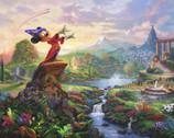 Disney Dreams - Mickey Fantasia PANEL 35 Inches by Thomas Kinkade from Four Seasons Fabric