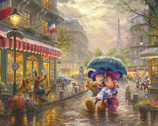 Disney Dreams - In Paris PANEL 35 Inches by Thomas Kinkade from Four Seasons Fabric