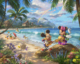 Disney Dreams - In Hawaii PANEL 35 Inches by Thomas Kinkade from Four Seasons Fabric