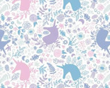 Enchantment  - Unicorn Magic White by Brooke Glaser from Camelot Fabrics