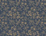 Daisy Mae - Sweet Blooms Navy from Poppie Cotton Fabric
