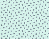 Poochie McGruff FLANNEL - Paws Aqua from 3 Wishes Fabric