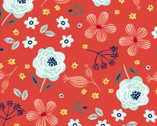 Madison - Allover Floral Red from 3 Wishes Fabric