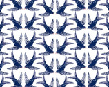 Madison - Swallows White from 3 Wishes Fabric