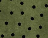 Most Wonderful Time FLANNEL - Big Dots Green by Bonnie Sullivan from Maywood Studio Fabric