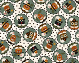 Happy Jacks and Friends FLANNEL - Happy Circles by Bonnie Sullivan from Maywood Studio Fabric