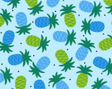Gone Wild - Pineapples Blue from Studio E Fabrics