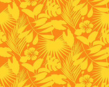 Gone Wild - Tropical Foliage Orange from Studio E Fabrics
