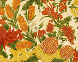 Under the Australian Sun Metallic - Outback Floral from The Textile Pantry