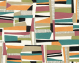 Farah Flowers - Abstract Blocks by Crystal Designs from P & B Textiles Fabric