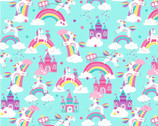 Unicorn Magic Pearlescent - Unicorn Dreams Aqua from Kanvas Studio Fabric
