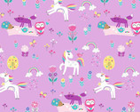 Unicorn Magic Pearlescent - Magical Forest Lilac from Kanvas Studio Fabric