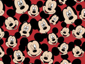 Mickey and Minnie Mouse - FLEECE Mickey Mouse Red from Springs Creative Fabric