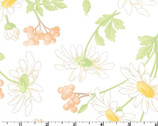 Fresh As A Daisy -  Daisies and Berries Off White by Rachel Shelburne from Maywood Studio Fabric