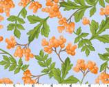 Fresh As A Daisy - Berries Sky Blue by Rachel Shelburne from Maywood Studio Fabric