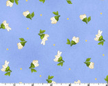 Fresh As A Daisy - Tossed Buds Blue by Rachel Shelburne from Maywood Studio Fabric