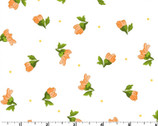 Fresh As A Daisy - Tossed Buds White by Rachel Shelburne from Maywood Studio Fabric
