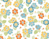 Carnaby Street - Spaced Blooms White from Maywood Studio Fabric