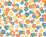 Carnaby Street - Little Flowers White from Maywood Studio Fabric