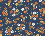 Carnaby Street - Flowers and Dots Navy from Maywood Studio Fabric