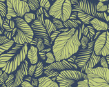 Carnaby Street - Leaves Navy from Maywood Studio Fabric