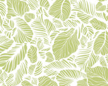 Carnaby Street - Leaves White from Maywood Studio Fabric
