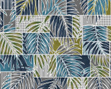 Turtle Bay - Transparent Palms Blue Green from Maywood Studio Fabric