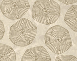 Turtle Bay - Sand Dollars Sandy Brown from Maywood Studio Fabric