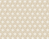 Turtle Bay - Mini Starfish Sand Beige from Maywood Studio Fabric
