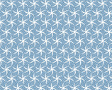 Turtle Bay - Mini Starfish Blue from Maywood Studio Fabric