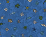 Turtle Bay - Mini Sealife Navy from Maywood Studio Fabric