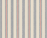 Thalassophile - Stripe Dark Cream from Lewis and Irene Fabric