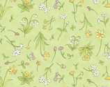 Guess How I Love You - When I'm Big - Floral Green from Clothworks Fabric