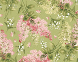 Sensibility - Tossed Floral Green from Maywood Studio Fabric