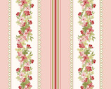 Sensibility - Floral Stripe Pink from Maywood Studio Fabric