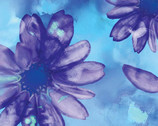 Color Calypso - Floral Blue from Kanvas Studio Fabric