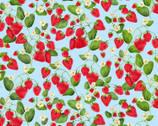 Strawberry Fields Forever - Strawberry Patch Blue by  Kanvas Studio from Benartex Fabrics