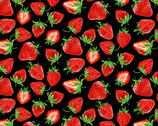 Strawberry Fields Forever - Strawberry Festival Black by  Kanvas Studio from Benartex Fabrics