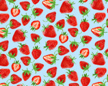 Strawberry Fields Forever - Strawberry Festival Blue by  Kanvas Studio from Benartex Fabrics