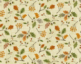 Autumn Is Calling - Acorn Leaves Natural from Timeless Treasures Fabric