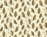 Autumn Is Calling - Owls Natural from Timeless Treasures Fabric