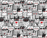 Cool Cats - Packed Cats from Timeless Treasures Fabric
