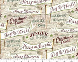 Jingle All The Way - Banners and Signs from 3 Wishes Fabric