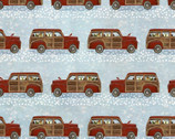 Jingle All The Way - Wood Trucks Blue from 3 Wishes Fabric