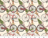 Jingle All The Way - Bicycles Cream from 3 Wishes Fabric