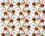 Harvest Campers - Bicycles White from 3 Wishes Fabric