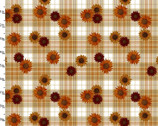 Harvest Campers - Plaid Floral Cream from 3 Wishes Fabric