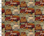 Harvest Campers - Camper Hauler Tan from 3 Wishes Fabric