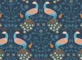 Chieveley - Peacock Blue from Lewis and Irene Fabric